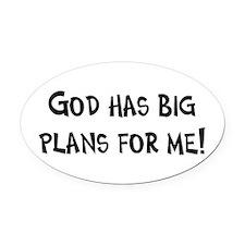 God's Plan for Me Oval Car Magnet