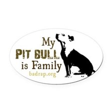 Cute Pit bull Oval Car Magnet