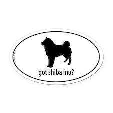 Got Shiba Inu? Oval Car Magnet