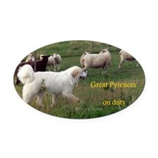 Great Pyr on Duty<br>Oval Car Magnet