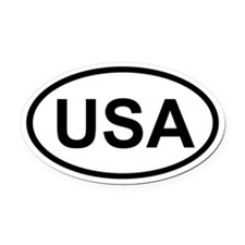 USA Oval Car Magnet