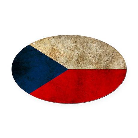 Czechoslovakia Oval Car Magnet
