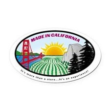 Unique Made in california Oval Car Magnet