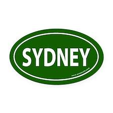 Sydney Euro Bumper Oval Car Magnet -Dark Green