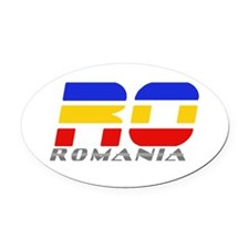 Romanian Car Oval Car Magnet Oval Car Magnet