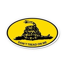 Cute Don't tread on me Oval Car Magnet
