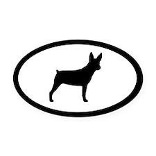 Rat Terrier Oval Car Magnet