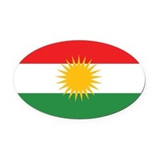 Kurdish Flag Oval Car Magnet