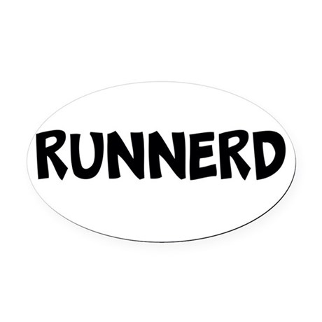 Runnerd Oval Car Magnet