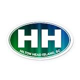 Hilton head Oval Car Magnets