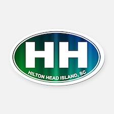 HILTON HEAD - Oval Car Magnet