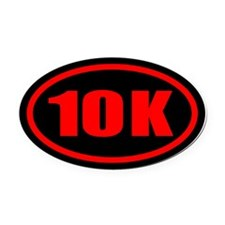 10 K Runner Oval Oval Car Magnet