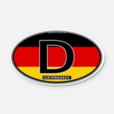 Germany Colors Oval Oval Car Magnet