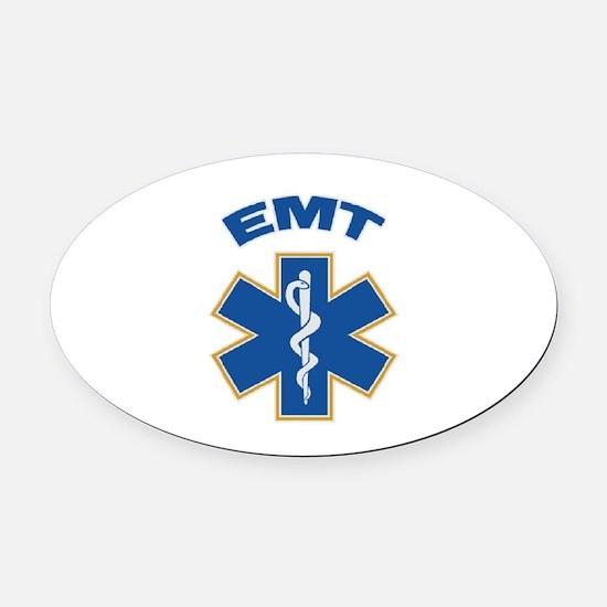 Emergency Medical Technician Oval Car Magnet