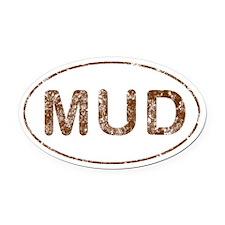 Mud Run Oval Car Magnet