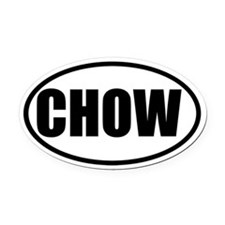 Chow Oval Car Magnet