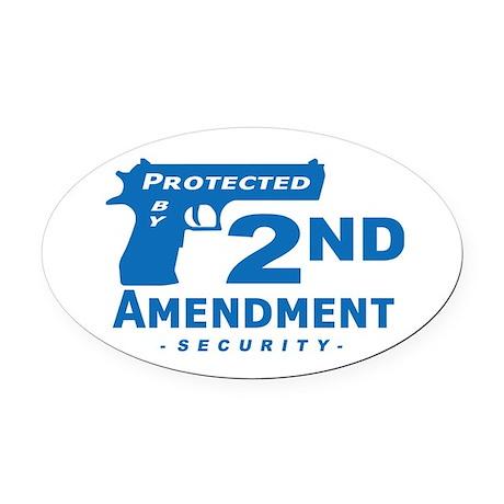 2nd Second Amendment Security Oval Car Magnet