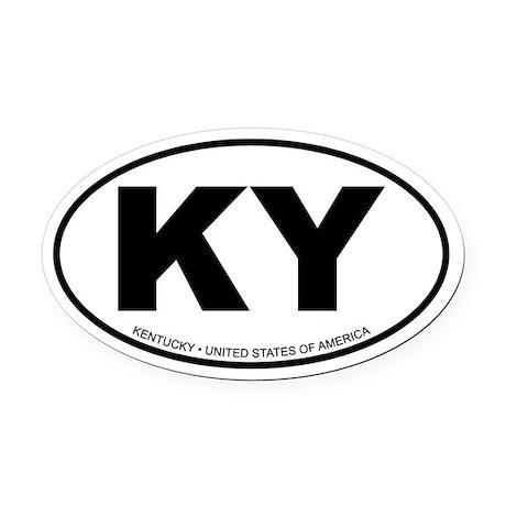 Kentucky Oval Car Magnet
