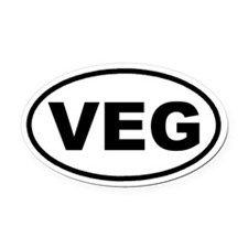 VEG Vegan Euro Oval Car Magnet