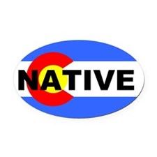 Cute Avalanche Oval Car Magnet