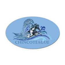 Chincoteague Pony Oval Car Magnet