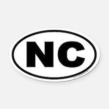 North Carolina NC Euro Oval Car Magnet