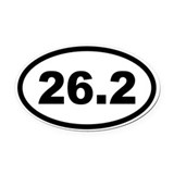 26.2 Oval Car Magnets