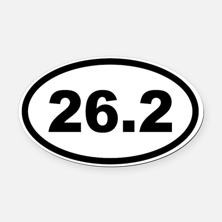 26.2 Marathon Oval Car Magnet