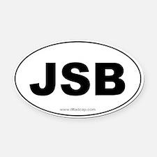 JSB Car Oval Car Magnet