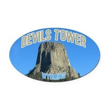 Devils Tower National Monument Oval Car Magnet