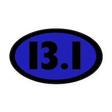 13.1 Miles Oval Car Magnet