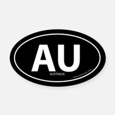 Australia country bumper Oval Car Magnet -Black (O