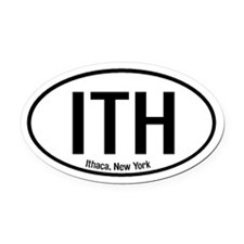 Ithaca, New York Oval Car Magnet
