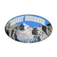 Mount Rushmore National Monument Oval Car Magnet