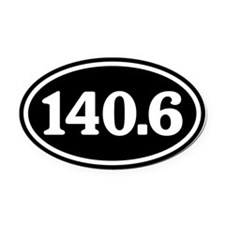 140.6 Triathlon Oval Car Magnet (Oval)