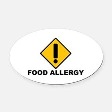 Food Allergies Oval Car Magnet