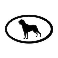 Rottweiler Oval Car Magnet