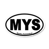 Mystic connecticut Oval Car Magnets