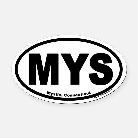 Mystic, Connecticut Euro Oval Car Magnet