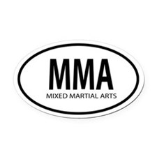 MMA Oval decal Oval Car Magnet