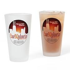 barBQphoriaROUND2.png Drinking Glass