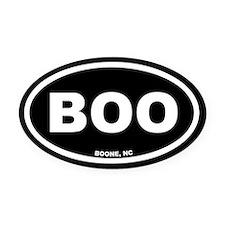 BOO Boone, NC Black Euro Oval Car Magnet