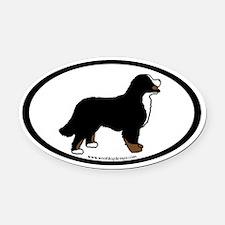 Bernese Mt. Dog (inner border) Oval Car Magnet