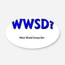 Funny What would poe do Oval Car Magnet