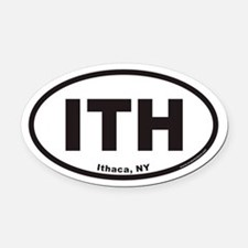 Ithaca New York ITH Euro Oval Car Magnet