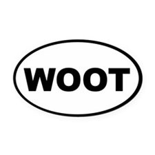 WOOT Oval Car Magnet