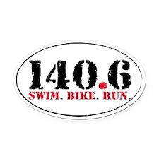 140.6 Swim Bike Run Oval Car Magnet