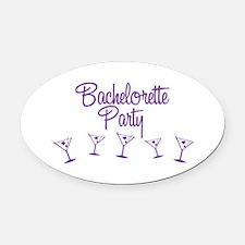 Purple Multi Bachelorette Party Oval Car Magnet