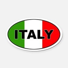 Italy (Italia) Flag Oval Car Magnet