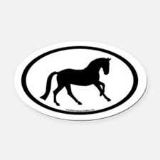 Canter Horse Oval Oval Car Magnet